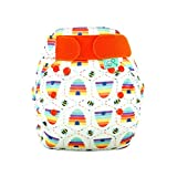 TotsBots PeeNut Bee Kind Reusable Washable Waterproof Wrap Size 2, 9 to 35lbs,  for use with Bamboozle Nappies