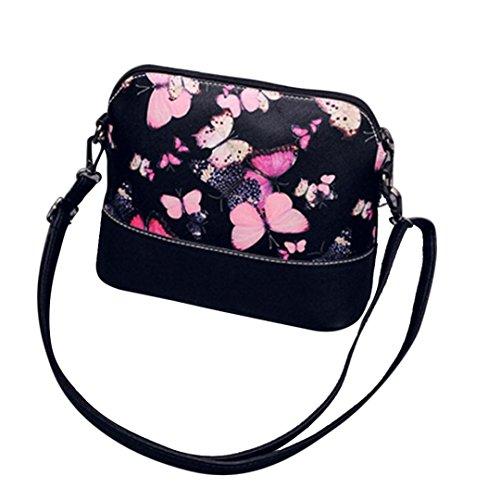 Byste nuovo donna borse del messaggero farfalla stampa piccolo conchiglia pelle borsetta casuale borse a tracolla crossbody borse spalla messenger borse