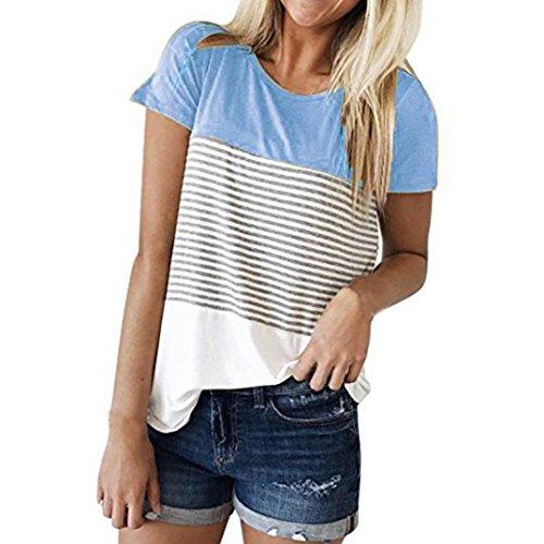 K-youth-Blusas-Para-Mujer-Camisa-de-Manga-Corta-Para-Mujer-Rayas-Casual-Camiseta-Mujer-Ropa-de-Mujer-EN-Oferta-Suelto-Tops-Blusas-de-Mujer-Elegantes-de-Fiesta-Baratas-2018-T-Shirt