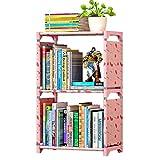FKUO Einfache Bücherregal Bücherregal Regale kreative Kombination Regal Regal Kinder Bücherregal (glückliche Kirsche, 42*26*64cm)