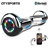CITYSPORTS Hoverboard 6.5 Pouces, Self Balancing Scooter avec Roue LED et Bluetooth Intégré, Moteur 2 * 350W