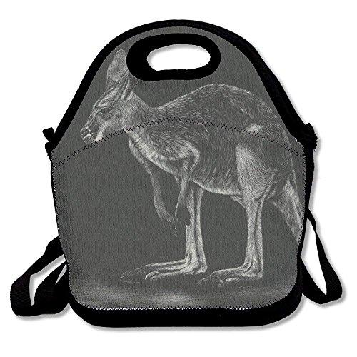 Isolierte Känguru (Känguru Lunchtasche mit Tiermalerei, isoliert, Neopren, groß, wiederverwendbar, für Damen, Teenager, Mädchen, Kinder, Baby, Erwachsene tragbar)