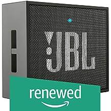 (Renewed) JBL GO Portable Wireless Bluetooth Speaker with Mic (Black)