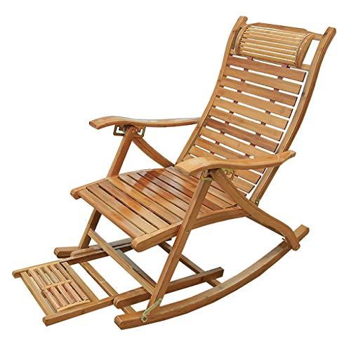 Lw yychair Schaukelstuhl Schaukelstuhl Bambus Innen Wohnzimmer Outdoor Möbel UV Wetter Beständig (Bambus breite 3 cm) (Farbe : C)