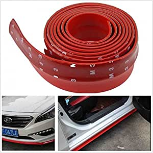 Samurai Red Car Body Kit Bumper Lip Side Skirt Rubber Edge Decorative Protector Trim for Maruti Ritz