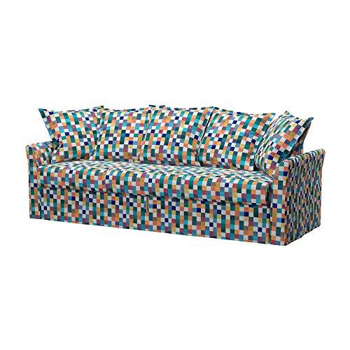 Soferia - IKEA HOLMSUND Funda para sofá Cama de 3 plazas, Mozaik...