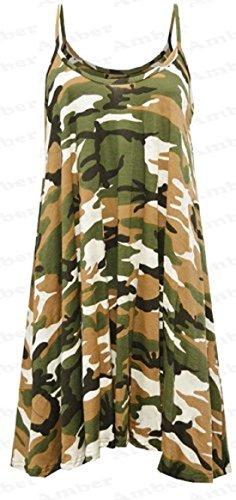 Sugerdiva - Robe - Patineuse - Femme Army Print