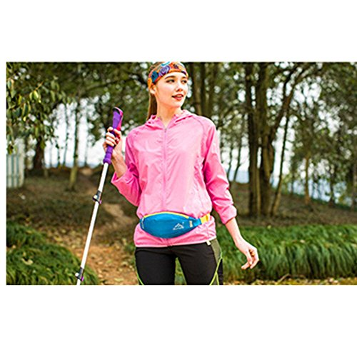 Wewod 600 D Nylon Wasserdicht Gürteltasche/Sport Hüfttasche-Exklusive Öffnung für Kopfhörer-Reflexstreifen für Nachtsichtbarkeit-zum Laufen und Reisen Entwickelt (Grau) Rot
