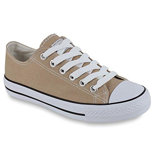 Damen Sneakers Sportschuhe Stoffschuhe Sportliche Schuhe Gr. 36-41 Khaki