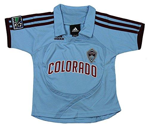 Colorado Rapids MLS Infants Away Replica Jersey Polo Top, Light Blue (18 Months, Light Blue)