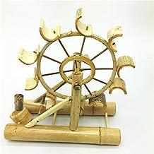 L&LQ Regalos adornos de artesanía de molinos de viento de madera hechos a mano tanques de agua de molino de viento educativa de los niños