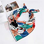 Decorative Square Neckerchief Scarf Bandanas Multifunction Polyester Silk Scarf 50cm x 50cm