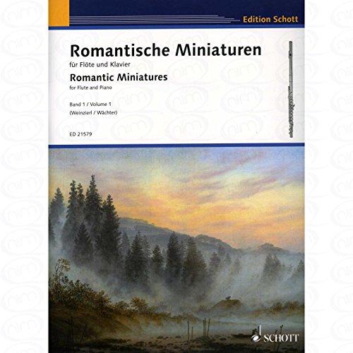 Romantische Miniaturen 1 - arrangiert für Querflöte - Klavier [Noten/Sheetmusic]