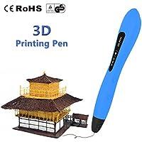 LAOPAO Penna di stampa 3D per bambini, con modelli di disegno PCL (blu) per giocattoli e regali per bambini
