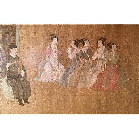 """Stampa artistica / Poster: Chinesische Malerei """"Night time parties of Han Xizai"""" - stampa di alta qualità, immagini, poster artistici, 100x65 cm"""