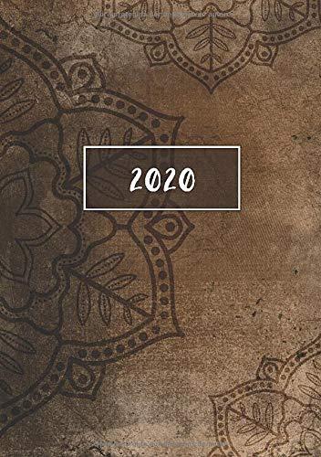 2020: ENE - DIC Agenda Semanal | 1 Semana en 2 Páginas | 52 Semanas Planificador y Calendario | A5 Vintage Mandala