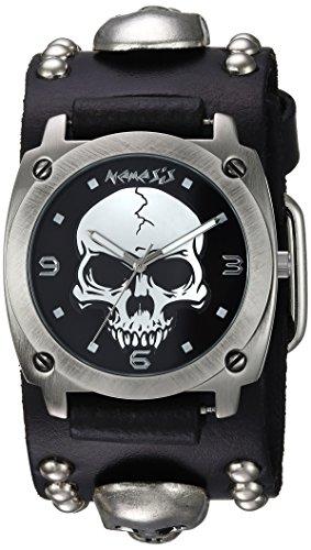 Nemesis MSK926K - Reloj de pulsera hombre, Cuero, color Negro