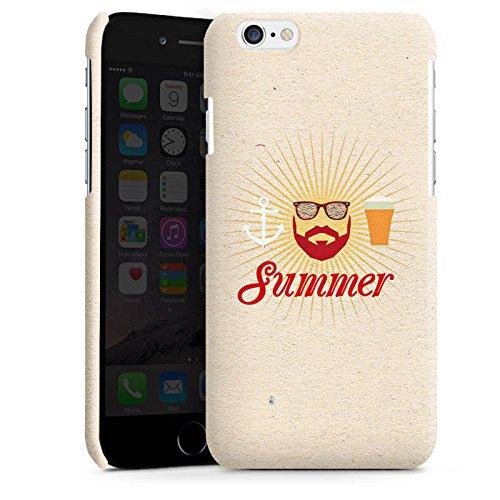 Apple iPhone 4 Housse Étui Silicone Coque Protection Été Hipster Barbe Cas Premium brillant