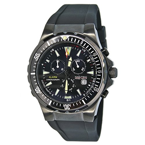 Nautec No Limit Herren-Armbanduhr XL Betta Chronograph Quarz Kautschuk BT QZ-ALA/RBIPBKBK