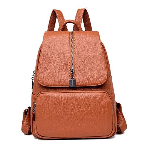 RMXMY Sac à bandoulière texturé féminin de la rue de la mode personnalité dames sac à dos créatif simple couleur unie grande capacité en cuir tendance britannique tendance tendance sac à dos de voyage