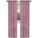 Achim Home Furnishings Buffalo Check Curtain Panel