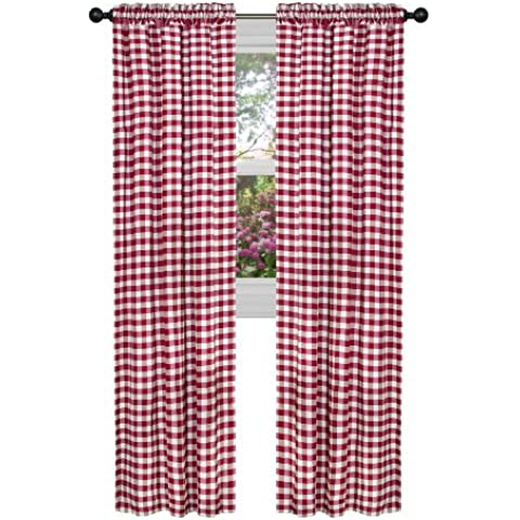 Achim Home Furnishings Buffalo Check Curtain Panel,