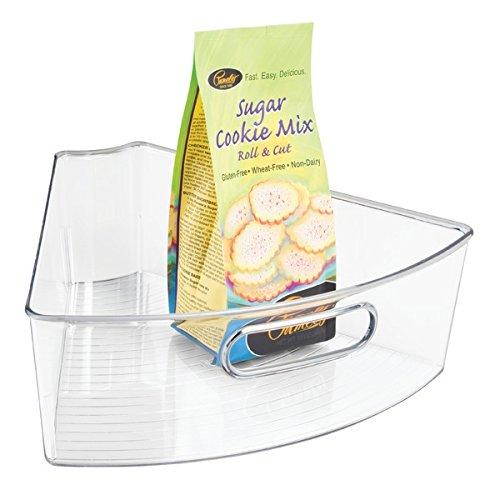 Susans, Die Küche Für Lazy Schränke (mDesign Lazy Susan Schrankkorb – die praktische, sechstelförmige Küchen Aufbewahrungsbox – Ordnungssystem für den ganzen Haushalt – durchsichtig)