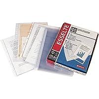Esselte 46134 - Pack 100 fundas multitaladro PP, transparente