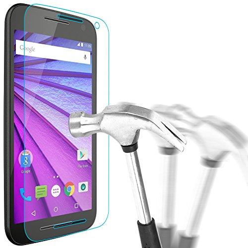 Motorola Moto G3 Schutzglas, Bingsale Gehärtetem Glas Schutzfolie Displayschutzfolie Panzerglas für Motorola Moto G (3. Generation)2015