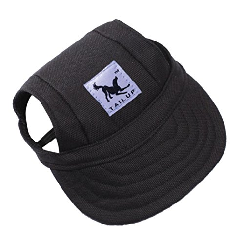RETUROM Ropa para Mascotas, Verano pequeño Mascota Lona Perro béisbol Visera Sombrero Gorras al Aire Libre (S, K)