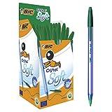 Bic Cristal Soft Punta Media 1,2 mm Confezione 50 Penne Colore Verde