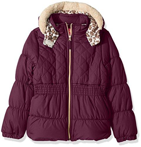 Pink Platinum Mädchen Daunenjacke Jacke, Einfarbig rosa magenta Gr. 3 Jahre, magenta (Trench Coat Animal Print)