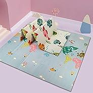 Alfombra de juegos para bebé, alfombra de juegos para niños, alfombrilla para gatear, manta de juegos de doble