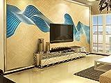 Fototapete Vlies Tapete 3D wallpaper Wanddeko Design Moderne Anpassbare Wandbilder Gold Abstrakten Linien Blattgold Sterne Galaxien Tv Hintergrund Mauer