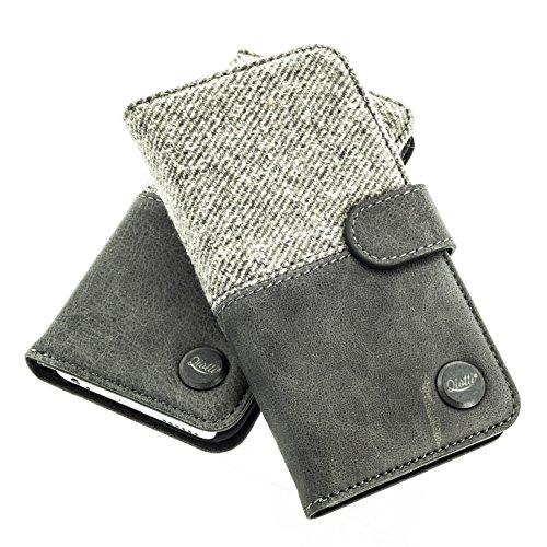 QIOTTI Hülle Kompatibel mit iPhone 6s / iPhone 6 Ledertasche aus Hochwertigem Leder mit Kartenfach