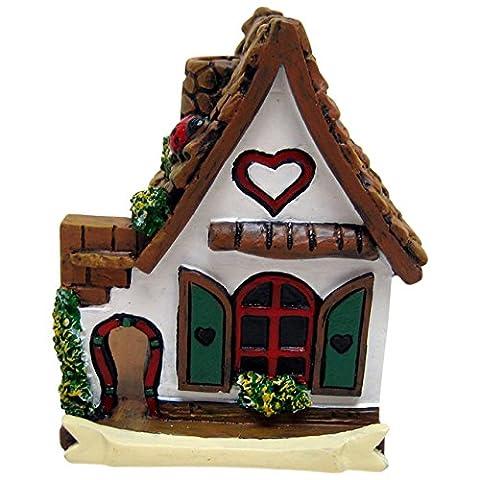 Jones Home and Gift White Miniature Fairy House,