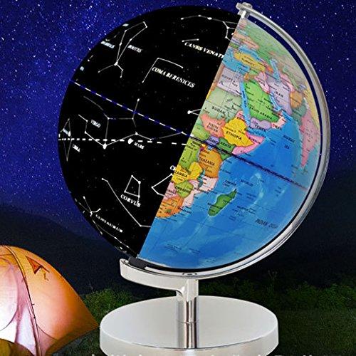 Sharplace 2 in 1 Weltkarte & Sternkarte Globus mit Beleuchtung Kinder Lernspielzeug - 30CM