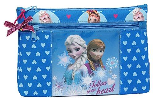 Frozen – Portatodo, 2 cremalleras, 23 x 16 x 3 cm (Safta 811535033)