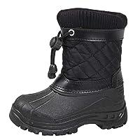 Lora Dora Kids Snow Boots Ski Jogger Fur Lined Mucker Moon Boots Warm Winter Shoes Size UK 6-2