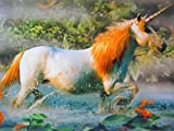 Einhorn Fabel Pferd Postkarte 15 cm Spruch Karte Sammelkarte Deko GP 269