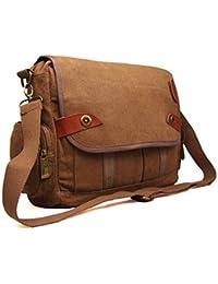 Mens Womens Canvas School Work College Laptop Uni Satchel Messenger  Shoulder Bag 6c82ccdbf4e9f