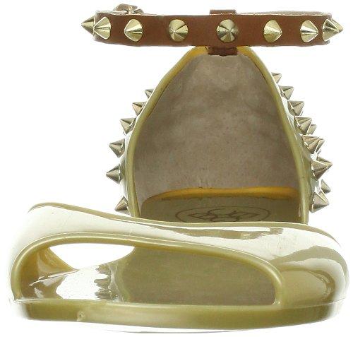 BCBGeneration  Oria, Damen Sandalen Weiß Shiny White/ White 35 Gold/Saddle