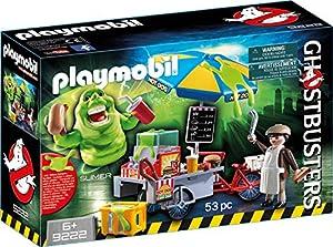 PLAYMOBIL Ghostbusters Slimer con Stand de Hot Dog, a Partir de 6 Años (9222)