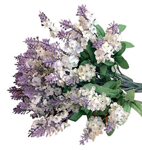 ZEZKT-Home Bouquet Künstlicher Lavendel Bouquet Kunstblumen Deko Hochzeit Lila Blumenstrauß Simulation Blumen für...