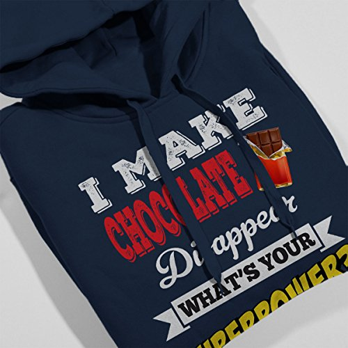 I Make Chocolate Disappear Whats Your Superpower Men's Hooded Sweatshirt Navy blue