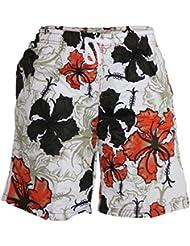 Short De Bain Motif Fleurs Style Hawaïen Basil
