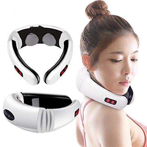 Shopbibles Nackenmassagegerät Schulter elektrischen Impuls Elektroschock Körpermassagegerät für Hals