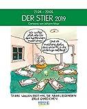 Stier 2019: Sternzeichenkalender-Cartoonkalender als Wandkalender im Format 19 x 24 cm.