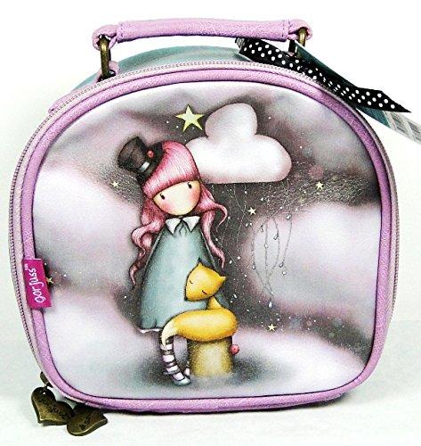 GorjussSantoro The Dreamer – Neceser con asa y cierre de cremallera, diseño de muñeca con gato, multicolor
