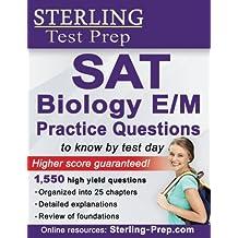 SAT Biology E/M Practice Questions